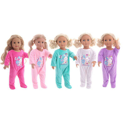 """Hot Handmade Accessories18"""" Inch American Girl Doll Clothes Cute pajamas set"""