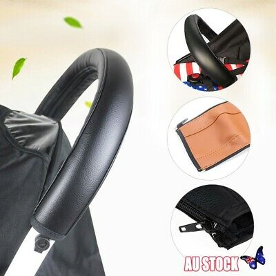 Grip Handle PU Leather Sleeve Cover for Baby Pushchair Pram Stroller Bumper
