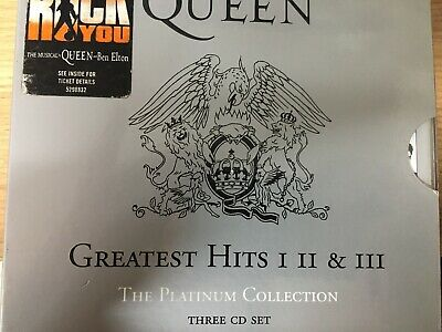 QUEEN - Greatest Hits I II & III 1 2 3 Platinum Collection CD Set 2000 EMI 3CD