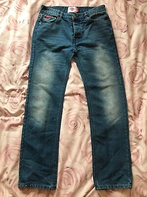 Mens Lee Cooper Zip Fly Button Fastening Bootcut Jeans Bottoms Size Waist 30-38