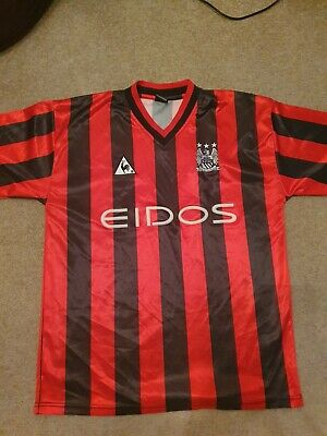 Manchester City Away Red And Black shirt 1999-2001 Size Large
