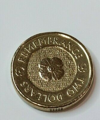 2012 Australia Remembrance Poppy 2 Dollar coin UNC