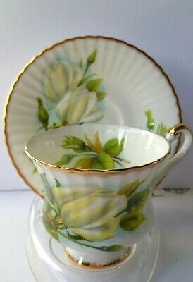Lovely Paragon England Tea Cup & Saucer Huge Deep White Rose & Buds