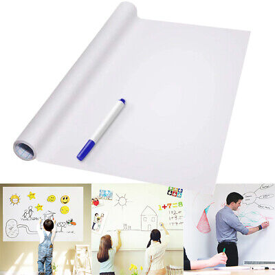 PVC Back Sticky White Board Roll Up Reusable Message Board