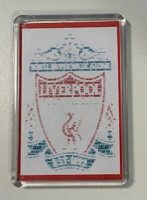 Liverpool FC Badge 2019/20 Squad Word Art ~ Keyring / Fridge Magnet