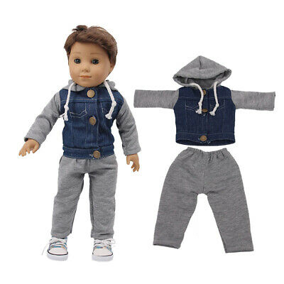 "Hot Handmade Accessories18"" Inch American Girl Doll Clothes Two-piece Cowboy"
