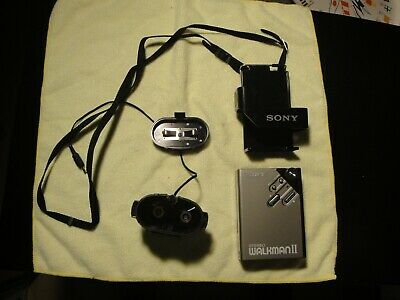 Sony Walkman WM-2 Portable Cassette Player with Belt Clip Rare BATTERY PACK