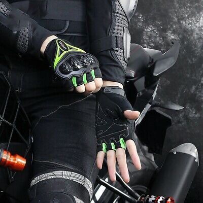 Hard Knuckle Half Finger Bike Gloves Motorcycle Paintball Tactical Fingerless US