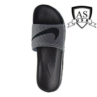 Nike Men's Benassi Solarsoft Sandals Slides Dark Grey/Black 705474 090 Size 11
