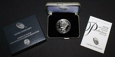 2018-W $25 1 Ounce .9995 Proof Palladium Eagle in Original Mint Packaging w/COA