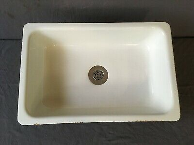 Vtg Mid Century Cast Iron 20x30 Drop In Kitchen Sink Old Vtg Kohler 216-19E