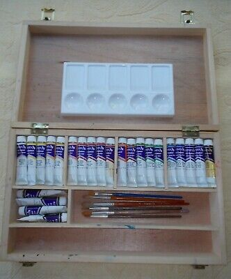 Reeves Art Box including Reeves Oil Paints - 24 x 12 ml Tubes, Brushes & Palette