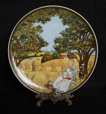 4 Villeroy & Boch Heinrich Germany Four Seasons 25 cm Plates
