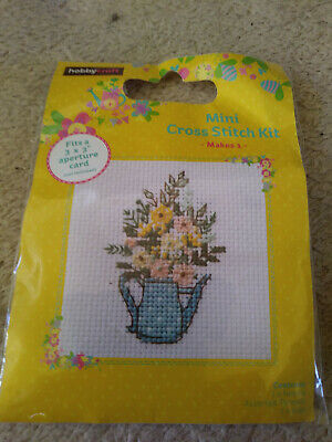 Hobby Craft mini Cross stitch kit, WATERING CAN