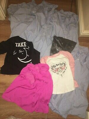 Job Lot/Bundle Of 8 Girls 7-8 Years Clothes (Tops/Dresses/Trousers)(Ex Cond)