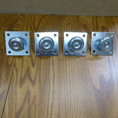 Arcade Game Adjustable Leg Levelers and Plates Set of 4 (New)