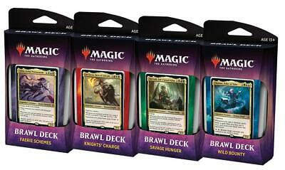 PREORDER Throne of Eldraine Brawl Deck Set of 4 OPENED BOX MAGIC MTG Ship Oct4-7