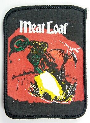 MEAT LOAF 'Bat Out of Hell' Vintage Printed Patch * Rock *
