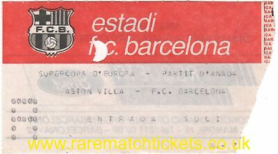 original 1982 EUROPEAN SUPER CUP final 2ND LEG BARCELONA ASTON VILLA ticket