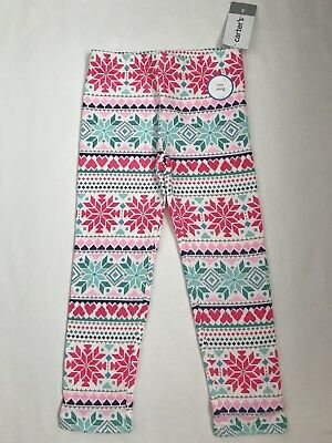 NWT Carter's Toddler Girls' Size 4 Cozy Lining Leggings Nice & Warm! Super Cute!