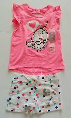 Carters Baby Girl/Toddler Outfit - 2-Piece Set - Top N Shorts - 2T - Nwt