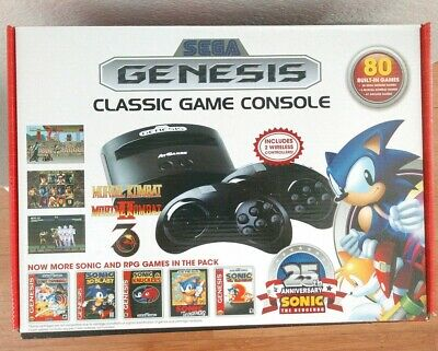 Atgames Sega Genesis Classic Game Console 80 Built-In Games!