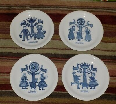 A Vintage Retro Dutch Blue & White Royal Sphinx Maastricht Wall / Side Plates