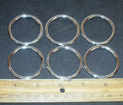 6 VTG Dial Card Ring Holders for Telephone Phone Retainer 1957 Stromberg Carlson