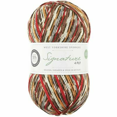 West Yorkshire Spinners Signature 4 Ply Yarn Wool 100g - Robin (941)