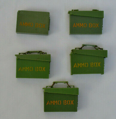 🔥 Genuine Vintage Palitoy 🔥 Action Man FIVE Ammo boxes (68)
