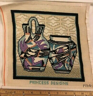 Southwest Vases Needlepoint Completed Princess Designs P166