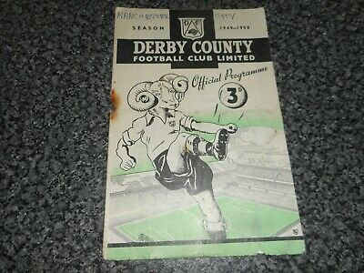 DERBY COUNTY  v  MANCHESTER CITY  1949/50   ~ DECEMBER 3rd    ***FREE POST***