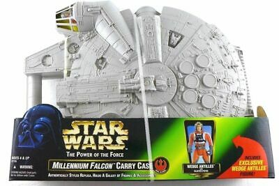 Star Wars Power of The Force Millennium Falcon Carry Case with Wedge Antilles