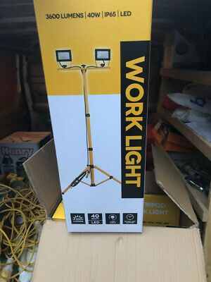 Worklight 40W / 3600 / IP65 Lumens LED Tripod Site Lights (12 available)