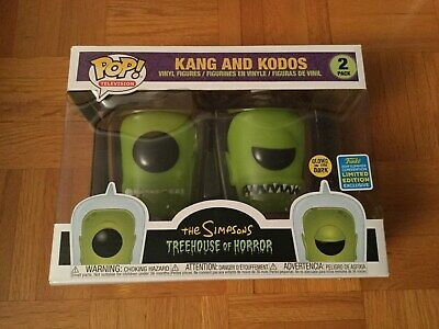 The Simpsons Kang and Kodos Funko pop #2 SDCC Summer Convention Exclusive