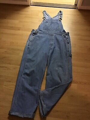 90's Gap Loose Fit Denim Dungarees Size L