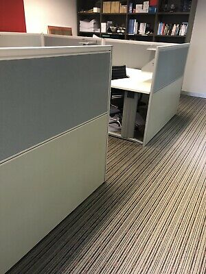 Grey Office partitions And Desks