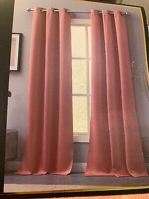 Juicy Couture Black Label Girls Teen Pink Two Room Darkening Window Panels 96""