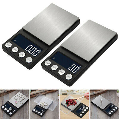 Pocket Digital Scales 0.001g 500g Jewellery Gold Weighing Mini LCD Electronic