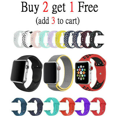 Silicone Nylon Bracelet Band Strap Sports Bands For Apple Watch Series 4 40mm