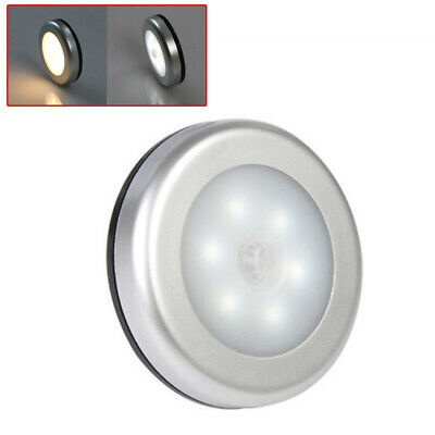 LED Toilet Bathroom Night Light Motion Activated Seat Sensor Wall Lamp