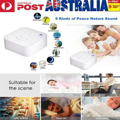 Mini Deep Sleep Machine White Noise Baby Therapy Solution 9 Peace Nature Sound