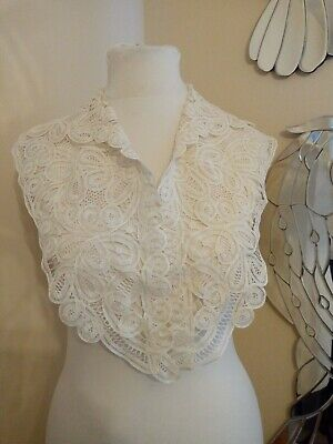 Antique Victorian cream lace fichu neck collar - Ditsy Vintage 1900 1910