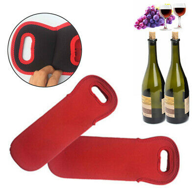 Red Bottle Wine Beer Champagne Cooler Insulated Neoprene Tote Bag Carrier Tool