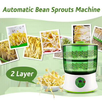 1.5L 2 Layer 220V Homemade Auto Multifunctional Bean Seed Seed Sprouts Machine