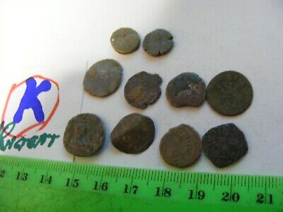 Lot of 10  worn mixed conditions Ancient  mostly Roman Coins(K).