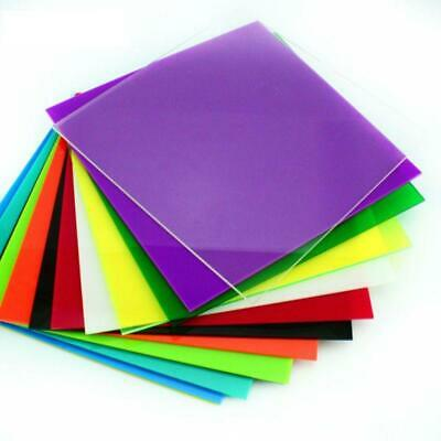 Color Acrylic Sheet Plate Plastic Plexiglass Panel 20*20cm DIY Model