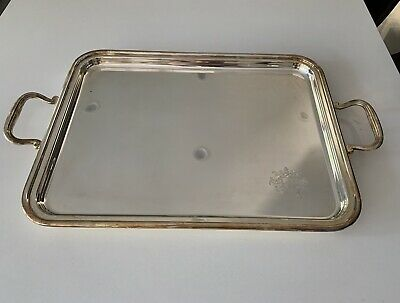 IMPORTANT Garrard & Co. 2003 Sterling Silver English Two Handle Tray 84 oz