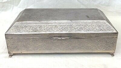 An Important 900 Egyptian Silver Antique Large Prayer Box