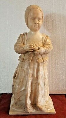 Important 18 Century Carved Alabaster Figurine Of King James Ii As An Infant